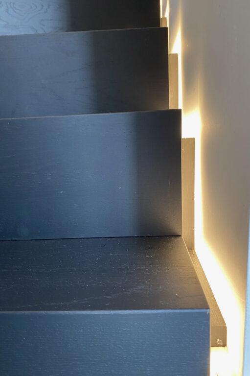 Exclusieve trap met ledverlichting detail